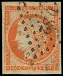Lot n° 135 -  - 5    40c. orange, oblitéré Losange DS2, TB