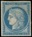 Lot n� 184 - (*) - R4d  25c. bleu, REIMPRESSION, TB