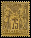 Lot n° 1132 - * - 99   75c. violet sur orange, frais, TB