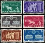 Lot n� 4764 - ** - LUXEMBOURG 443/48 : Europe Unie, la s�rie, TB