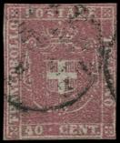 Lot n� 4748 -  - ITALIE (ANCIENS ETATS) TOSCANE 21 : 40c. rouge, obl., TB. C
