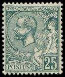 Lot n° 4354 - * - MONACO 16 : 25c. vert, excellent centrage et inf. ch., TB