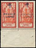 Lot n° 4101 - ** - INDE 181a : 18ca. rouge et rouge clair, surch. maigre tenant à normal, TB