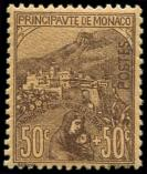 Lot n° 4359 - ** - MONACO 31 : 50c. + 50c. brun sur orange, TB