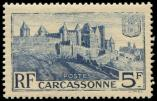 Lot n° 2720 - ** - 392   Carcassonne, 5f. outremer, impression DEFECTUEUSE, TB