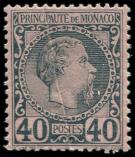 Lot n° 4352 - ** - MONACO 7 : 40c. bleu sur rose, PLI ACCORDEON, TB